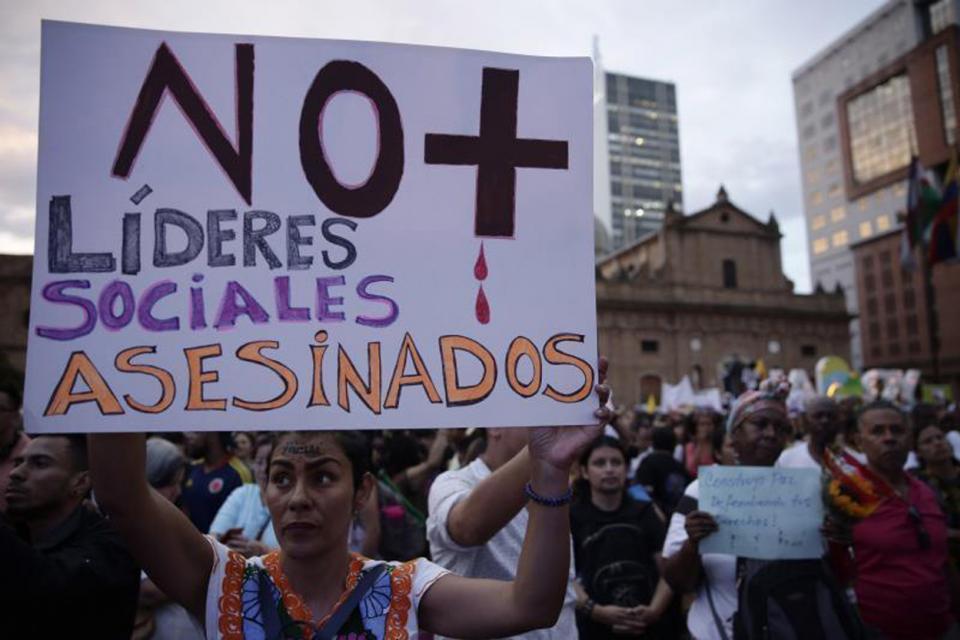 Líderes sociales en Colombia
